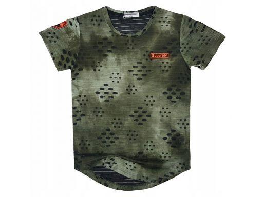Bluzka t-shirt royal junior r 12 - 146/152 green