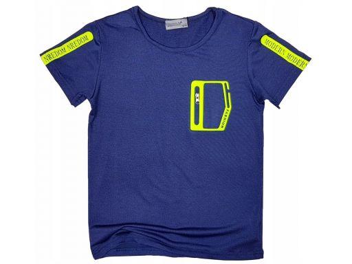 T-shirt bluzka fit lider 16 ok. 164/170 granat