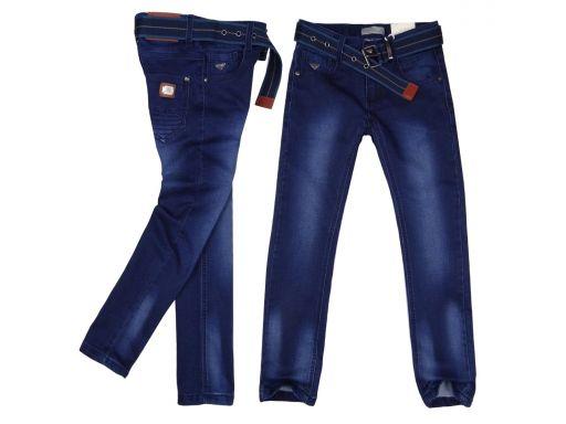 Spodnie jeans elastyczne famous r 10 - 134/140 cm