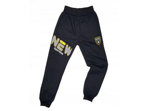 Ciepłe spodnie new modern r 14 - 152/158 cm black