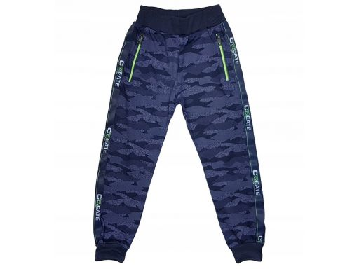 Spodnie moro dresowe create r 12 - 146/152 cm navy
