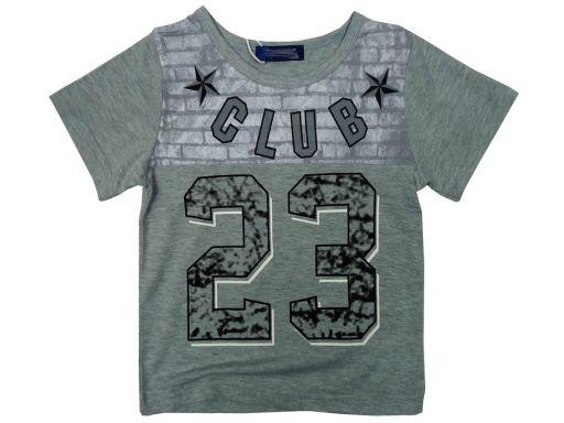 Bluzka t-shirt 23 club rozm.4 ok. 98/104 light