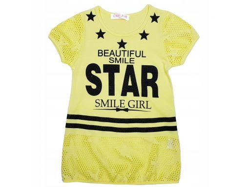 Bluzka smile girl r 4 - 98/104 cm yellow