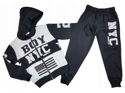 Dres bluza spodnie boy nyc 8 ok. 122/128 dark