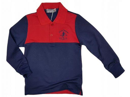Bluzka polo sports center r 8 - 122/128 cm red