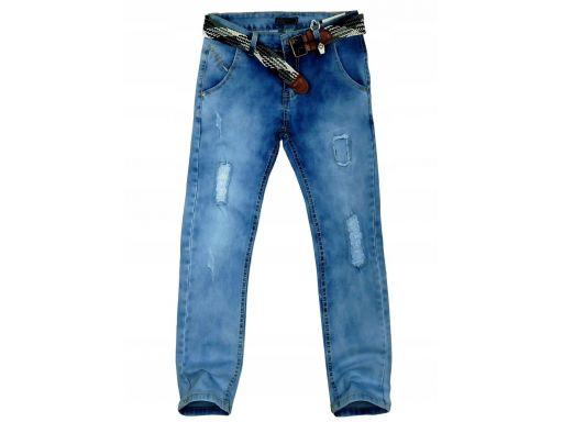 Jeansy spodnie elastyczne torres 8 ok. 122/128