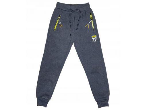 Ciepłe spodnie 79 show r 12 - 146/152 cm grey