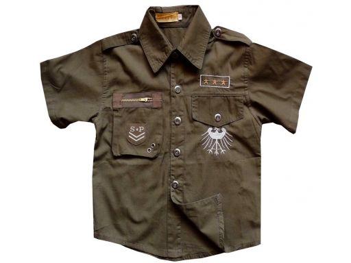Koszula military solider 14 ok.140 cm brown