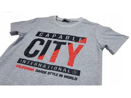 T-shirt koszulka city style r 12 - 146/152 szara