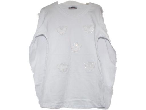 Atabay* bluzka-tuniczka w motylki cyrkonie 10-11