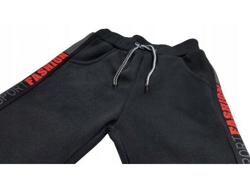 Ciepłe spodnie harison r 8 - 122/128 cm czarne