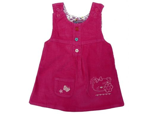 Sukienka 301e sztruks kiti 1 ok. 74 cm pink