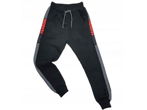 Ciepłe spodnie harison r 12 - 146/152 cm czarne