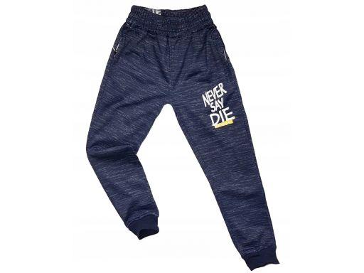 Spodnie dresowe never say die r 8 - 122/128 navy