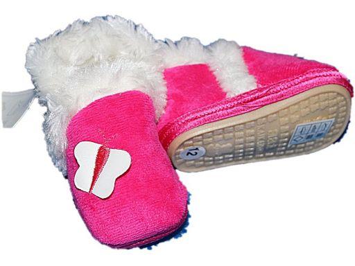Piękne buciki buty kozaczki kapcioszki- 6-9 m*
