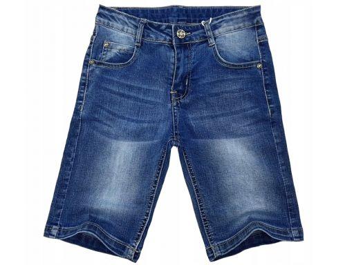 Spodenki jeans elastyczne pandora r 8 -122/128 cm