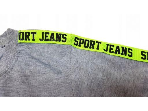 T-shirt bluzka no 1 sport r 10 - 134/140 cm szara