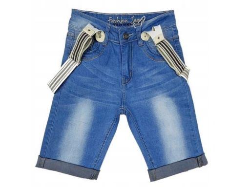 Spodenki jeans gk stick r 12 - 146/152 cm szelki
