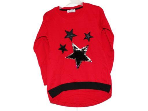 Atabay * bluzka tunika gwiazdki cekiny - 6-7 l