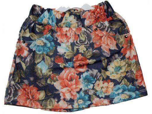 Tehvit * spódniczka w kwiaty - 110 cm