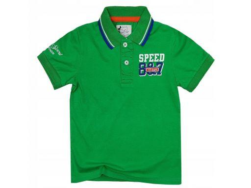 Bluzka polo speed master r 14 - 158/164 cm green