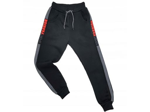 Ciepłe spodnie harison r 14 - 152/158 cm czarne