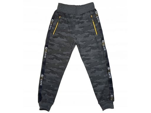 Spodnie moro dresowe create r 8 - 122/128 cm grey