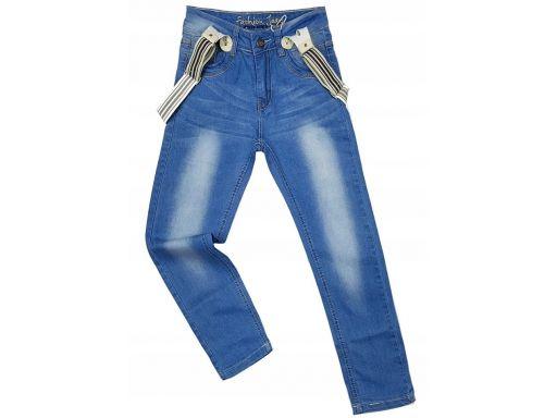 Spodnie jeansy gk famous 8 ok. 128 + szelki