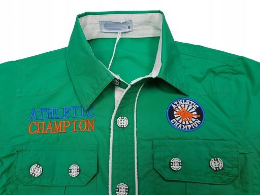 Wizytowa koszula domination 4 - 98/104 green