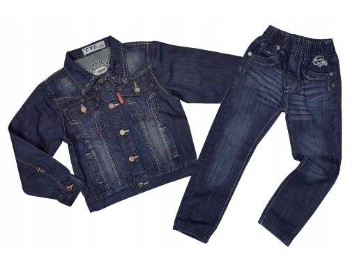 Komplet jeans romano r 8 - 122/128 cm granat
