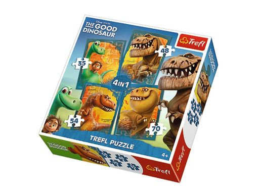 Chs puzzle trefl 4w1 35,48,54,70 dinozaury 34250