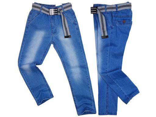 Spodnie jeansy elastyczne visco visit r 134 cm