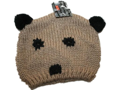 Hat *- czapeczka z dzianiny - czapka z pomponami