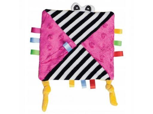 Szeleścik różowy przytulanka szmatka hencz toys