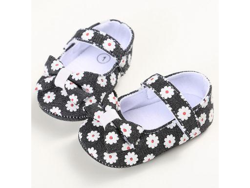 Przepiękne buciki w kwiatki - 6-9 m-cy 2 *
