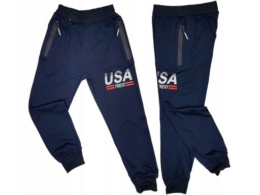 Spodnie dresowe usa treio r 16 - 158/164 cm navy