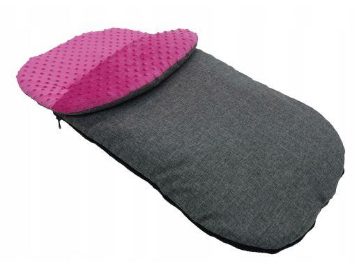 Śpiwór śpiworek do wózków sanek minky 105 cm