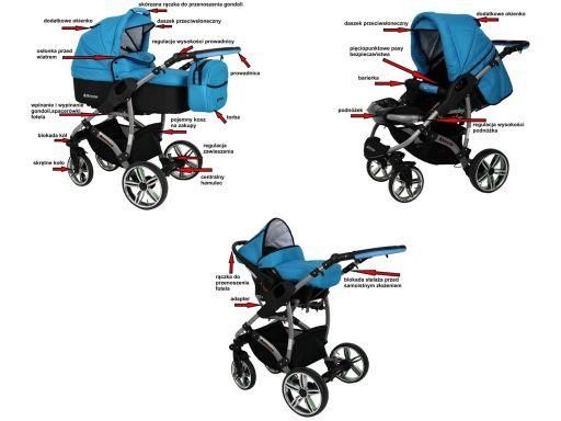 Allivio 3w1 eco polski wózek wielofunkcyjny