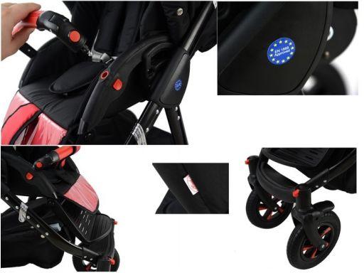 Nexxo 3w1 black wózek wielofunkcyjny nowość