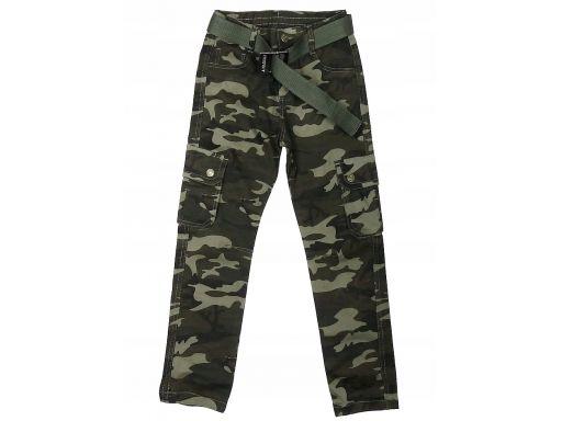 Moro lekko ocieplone spodnie idaho r 134 cm khaki