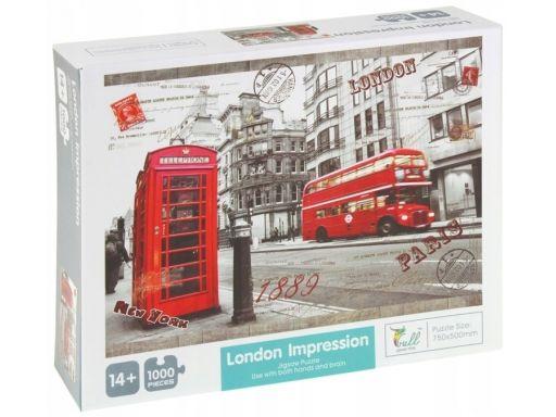 Puzzle 1000 el. londyn autobus budka telefoniczna