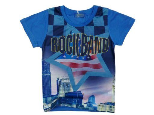 Super bluzka rock band 4 ok. 104 denim
