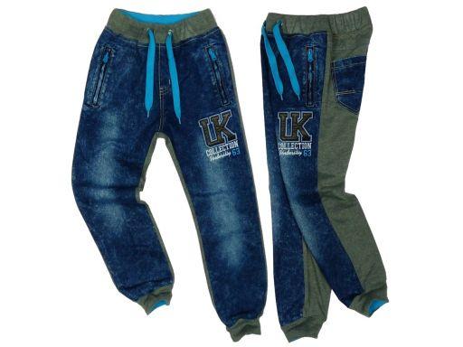 Spodnie joggery uk collection 8 ok. 122/128 grey