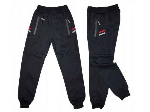 Ciepłe spodnie dresowe royal r 8 - 122/128 black