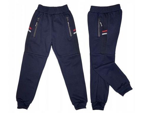 Ciepłe spodnie dresowe royal r 8 - 122/128 navy