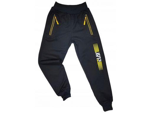 Spodnie dresowe power pro r 8 ok. 122 cm czarne