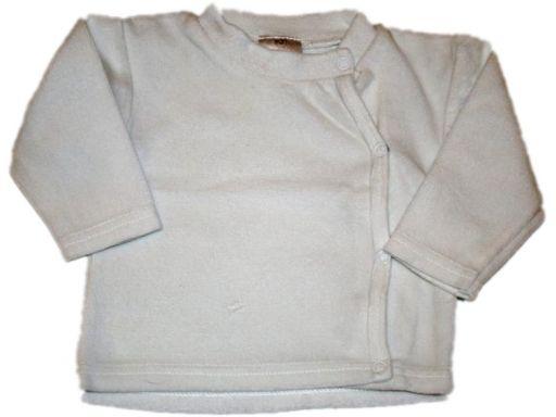 Welurowa biała bluzeczka - 62 cm *