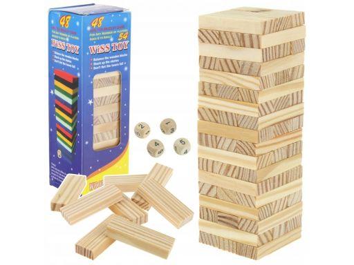 Wieża jenga drewniana układanka chwiejąca wieża