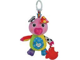 Tomy lamaze świnka maskotka zawieszka do wózka