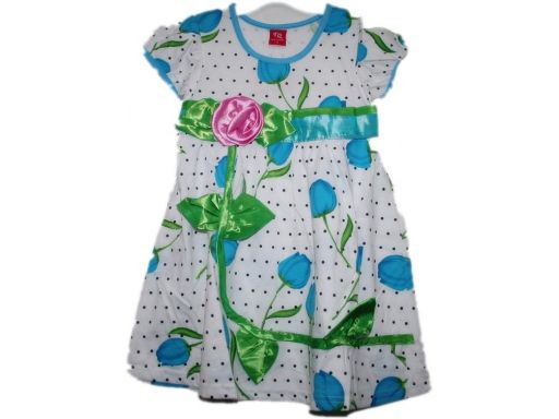 Tq *- elegancka sukienka z różą - 80 cm 1